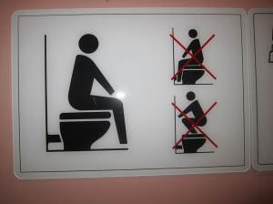 How to use a toilet, Thai sign